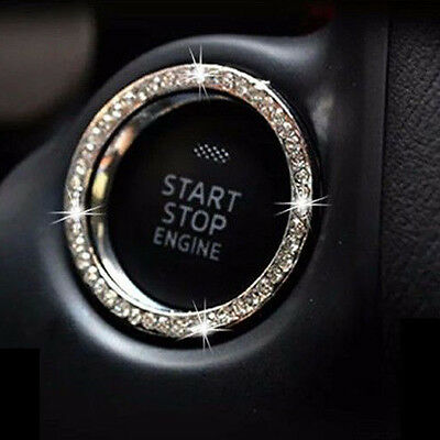 AUTO DECORATIVE ACCESSORIES Car BUTTON START Switch Diamond Ring For Benz BMW