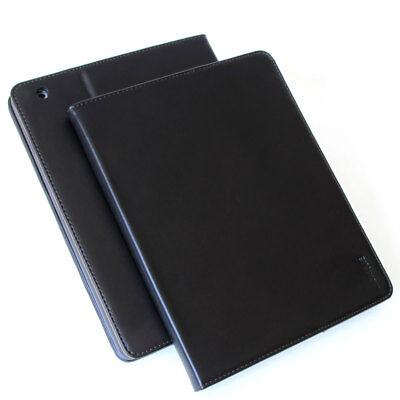 Echt Leder Schutzhülle Apple iPad Air 1 Tablet Tasche  Cover Smart Case schwarz Schwarz Leder Ipad Air Cover