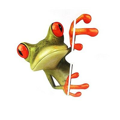 Body Door Window Funny Car SUV 3D Peeking Frog Decorative Decal Graphics Sticker