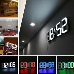 LED Digital Large Jumbo Snooze Wall Room Desk Calendar Alarm Clock Display White