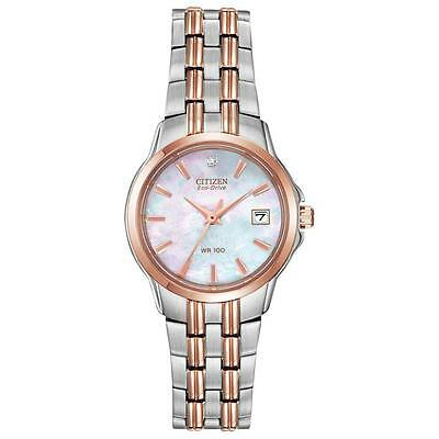 (Citizen Eco-Drive Women's EW1546-58D Diamond Accent Two-Tone 26mm Bracelet Watch)