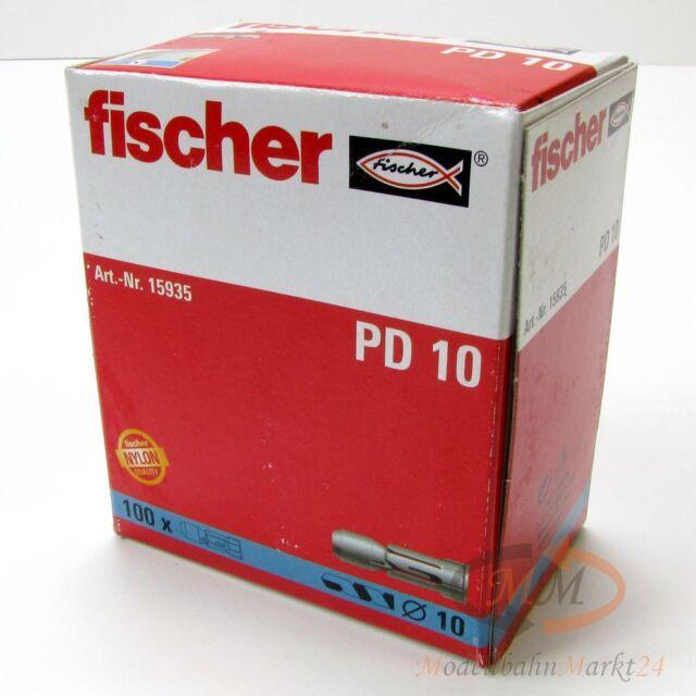FISCHER Dübel 15935 Plattendübel 10 mm PD10 VPE = 100 Stück - NEU