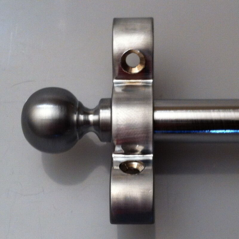 SATIN CHROME 1/2 INCH STAIR ROD BALL FINIALS (R18B)