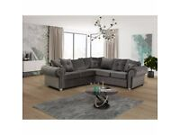 FaSTER DELIVERY - NEW Designer LARGE SOFA - FULL FOAM COMFY Large seats FULLY Puffed Back cushions