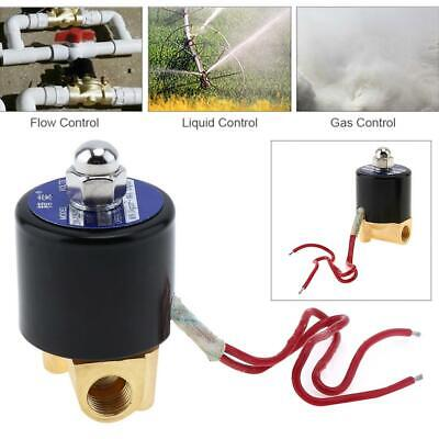 Electric Solenoid Valve Pneumatic Valve Brass Body For Water Oil Gas