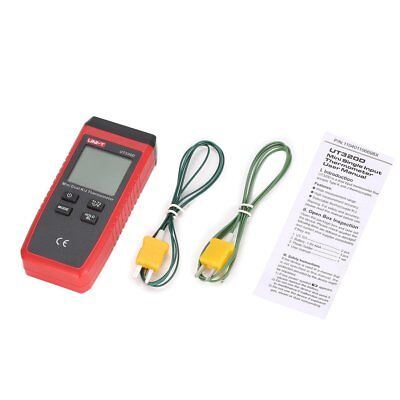 Uni-t Kj Type Dual-ch Digital Thermocouple Temperature Thermo Meter 0260 Nd