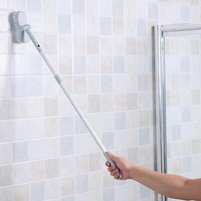 Bathroom Long Handle Brush Wall Floor Scrub BathTub Shower Tile Cleaning Tool ZX