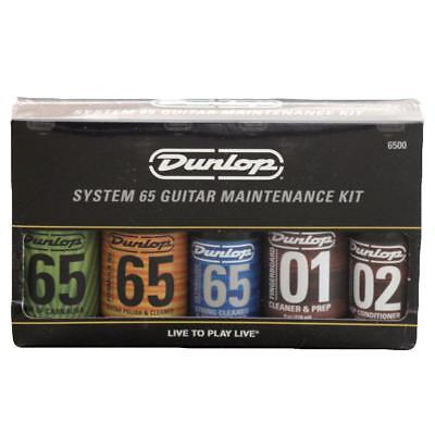 Dunlop System 65 Guitar Maintenance Kit - Polish, Cleaner, Wax, Cloths, etc ()