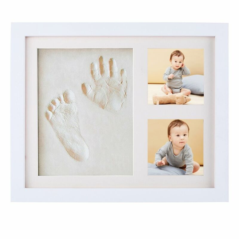 Baby Hand & Foot Print Clay Imprint Frame and Pictures Kit Keepsake Memories US