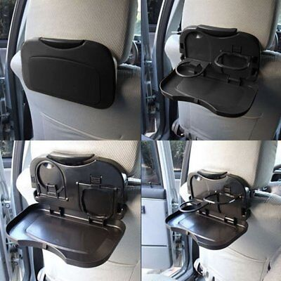 - Folding Auto Cup Holder Car Back Seat Table Drink Food Tray Auto Travel Desk ND