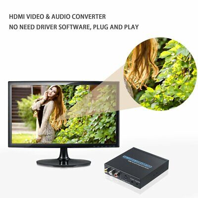 Mini No Signal Interference HDMI To AV/S-Video HD Video & Audio Converter rq