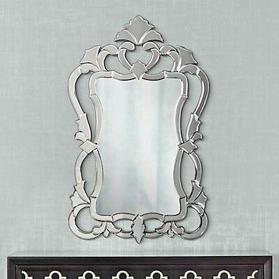 ORNATE Modern VENETIAN Horchow STYLE WALL MIRROR VANITY BATHROOM FOYER BATH
