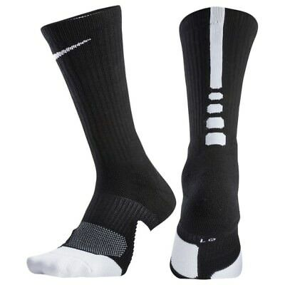 newest 5543a 53c75 Nike DRY ELITE 1.5 CUSHIONED CREW Basketball Socks SX5593-013 Size L (8-12)