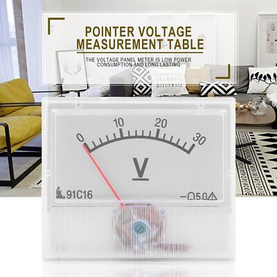 Professional Dc 0-30v Square Analog Volt Voltage Panel Meter Voltmeter Gauge Nd