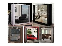 💠SLIDING MIRRORED CHICAGO WARDROBES IN 6 SIZES AND COLORS AVAILABLE 💠