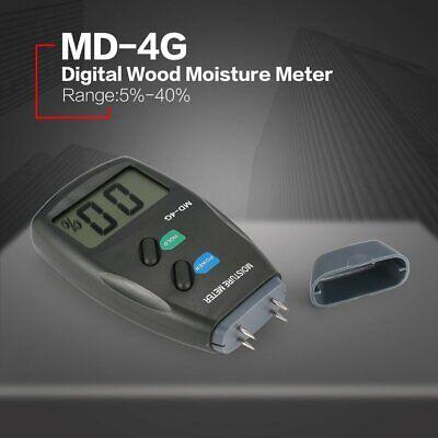 Md-4g 4 Pin Digital Wood Moisture Humidity Meter Damp Detector Tester 5 - 40 Q