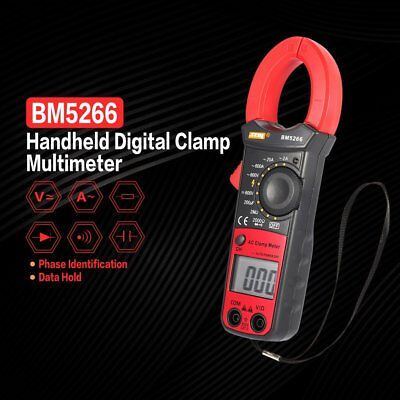Bm5266 Digital Clamp Meter Multimeter Acdc Volt Amp Ohm Phase Diode Tester Nd