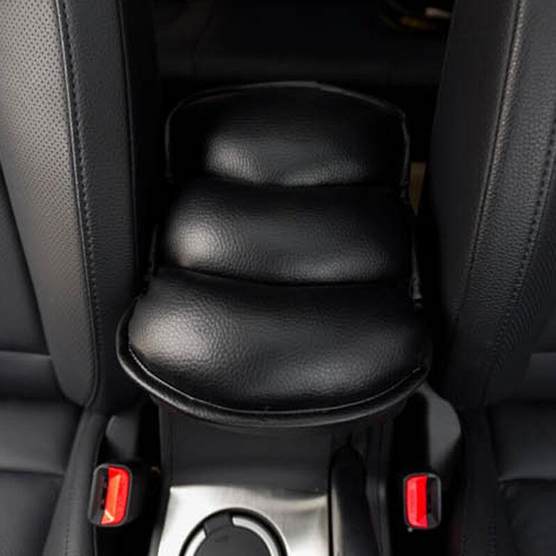 Vehicle Car Auto Black Center Console Armrest Soft PU Mats Cover Protection Pads