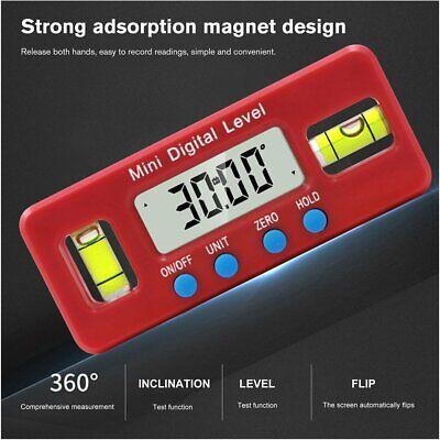 Mini Digital Protractor Inclinometer Level Box Angle Finder Measuring Tools 3i