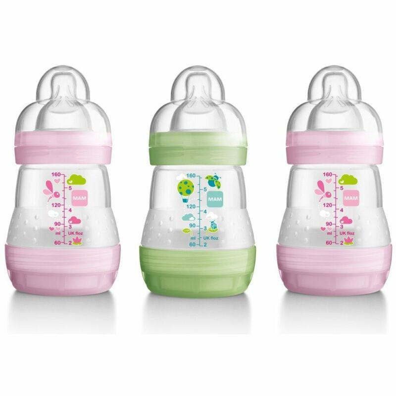 Mam Anti-colic 160ml Bottle - 3pk Girl