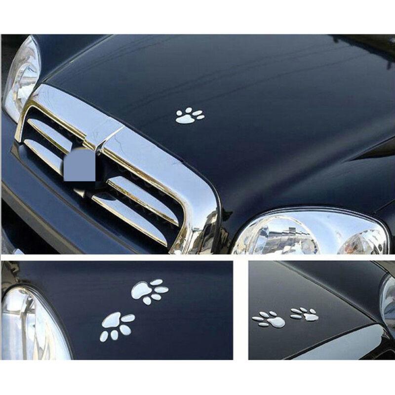 3D Auto Car SUV Window Bumper Body Paw Bear Dog Animal Foot Print Decal Sticker