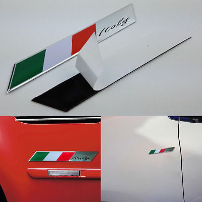 Italy Italian Flag Logo Emblem Metal Alloy Badge Car Motorcycle Decor Sticker (Italian Flag Decorations)