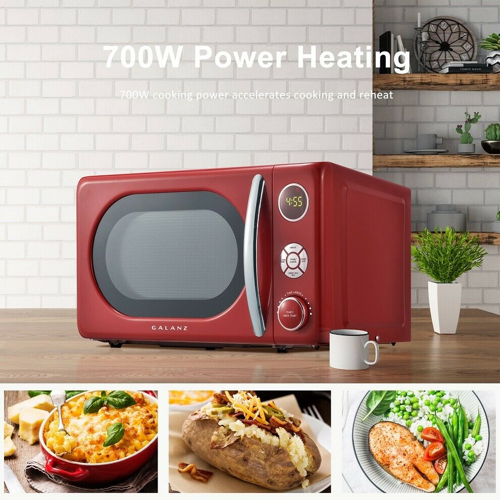 Galanz 0.7 cu ft Retro Microwave (red)