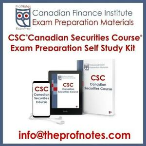 CSC Canadian Securities Course Textbooks & Practice Exams Kit for the CSI Canadian Securities Institute Exams