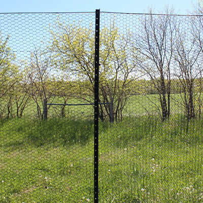 8 Angle Steel Posts For Deer And Animal Fencing Powder Coated 8pk.