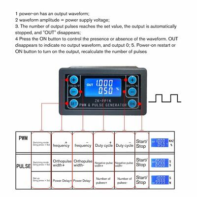Zk-pp1k Pwm Pulse Frequency Duty Cycle Adjustable Module Signal Generator Cq