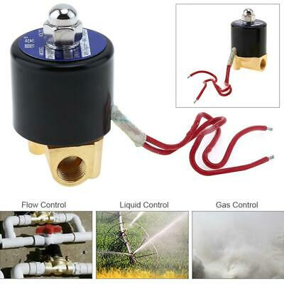 Ac 110v 14 Electric Solenoid Valve Pneumatic Valve For Water Air Gas Fuels Us