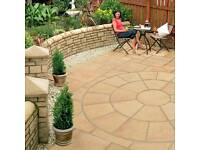 Buff paving circle and square off kit larger than pic shown