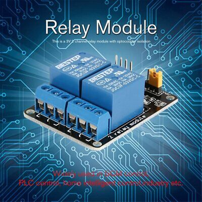 3v 2 Way Relay Module Interface Board Low Level Trigger Optocoupler Arduino Wp