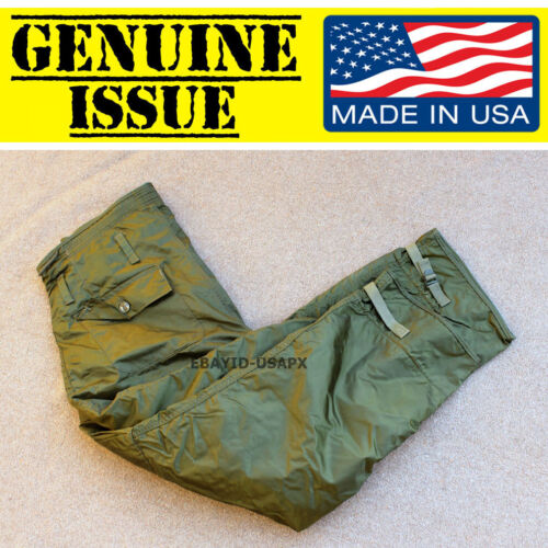 US NAVY MILITARY DECK PANTS IMPERMEABLE EXTREME COLD WEATHER TROUSER LARGE USN