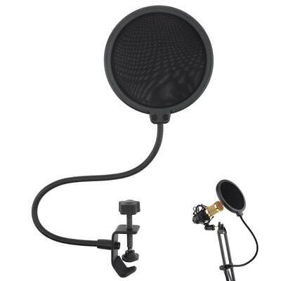 New Double Layer Studio Microphone Wind Screen Mask Gooseneck Shield Pop Filter