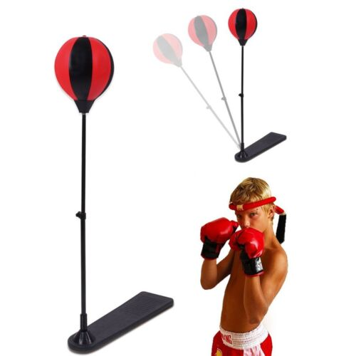 Kids Punching Bag Toy Set Adjustable Stand Boxing Glove Speed Ball New J/