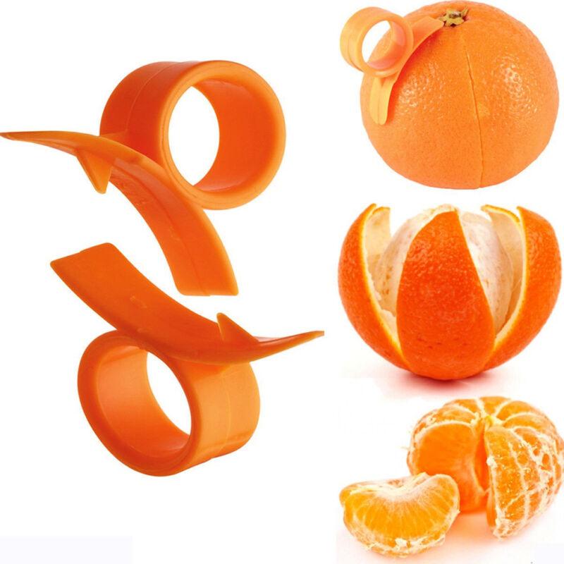 4pcs Finger Held Grapefruit Lemon Orange Peeler Citrus Peel