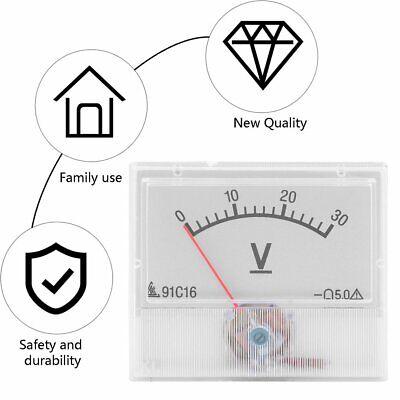 Professional Dc 0-30v Square Analog Volt Voltage Panel Meter Voltmeter Gauge Yi
