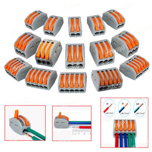 2-3-5Way-Connector-Wire-Reusable-Spring-Lever-Terminal-Block-Electric-Cable