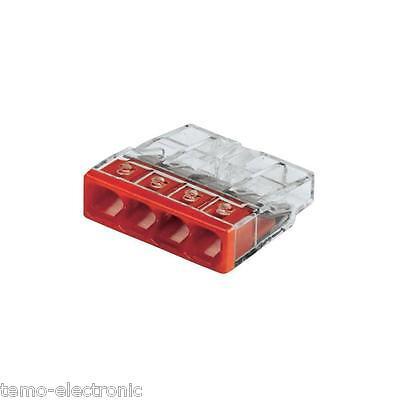 100 Stück Wagoklemmen Neu 4x0,5-2,5 mm² Nr. 2273-204