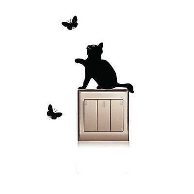 DIY Black Cat Light Switch Sticker Wall Decal PVC Removable Art Mural Room - Black Cat Decorations