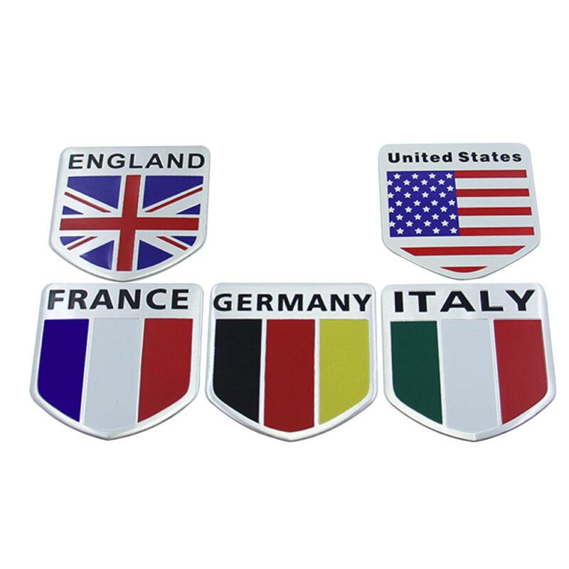 Vehicle Car Badge Emblem Symbol Decal Sticker America Italy England Flag Style