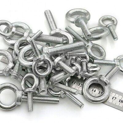 Carbon Steel Zinc-Plated Lifting Eye Bolts Eyebolts M6 M8 M10 M12 M14 M16 (8 Eye Bolts)