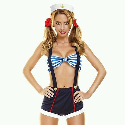 Hustler 5 pc Sailor Girl Costume Cosplay Outfit Size Medium to Large will fit SM - Hustler Costume