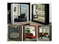 💰SLIDING MIRRORED CHICAGO WARDROBES IN 6 SIZES AND COLORS AVAILABLE 💰