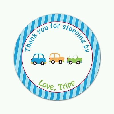 Winter Baby Shower Decorations (70 stickers bag favor label car birthday race boy blue baby shower)