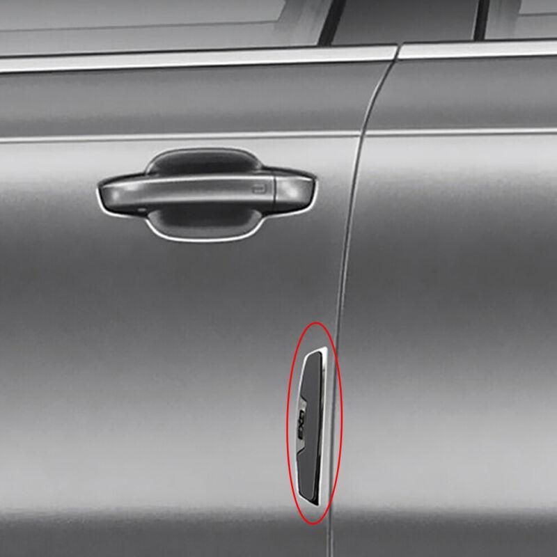 4 x Universal Black Chrome Car Van Door Edge Moulding Guard Protectors Strip Set