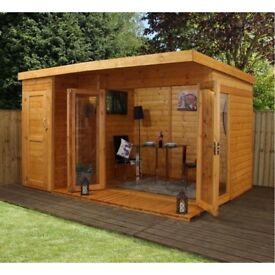 Sheds, summer house , office, decking ,garden design ,build