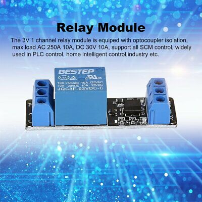 3v 1 Way Relay Module Interface Board Low Level Trigger Optocoupler Arduino Wp