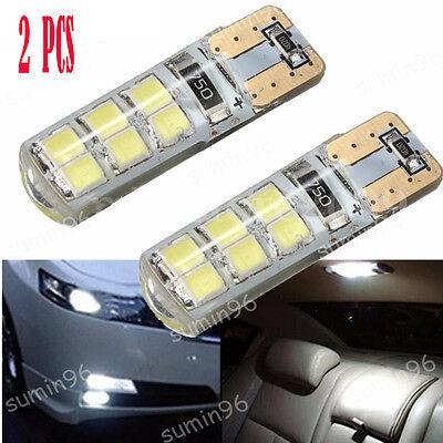 2X  T10 194 W5W COB 2835 SMD 12LED Car CANBUS Super Bright License Light Bulb 2W